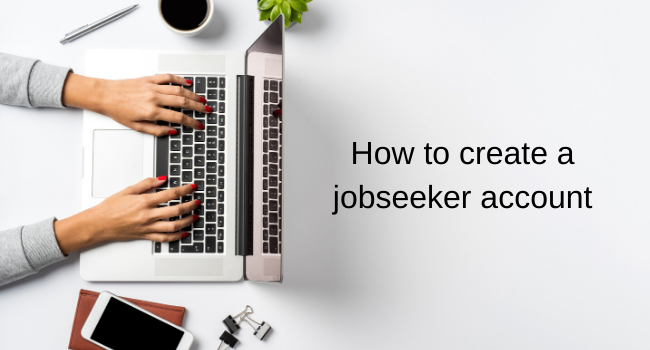 How to create a jobseeker account